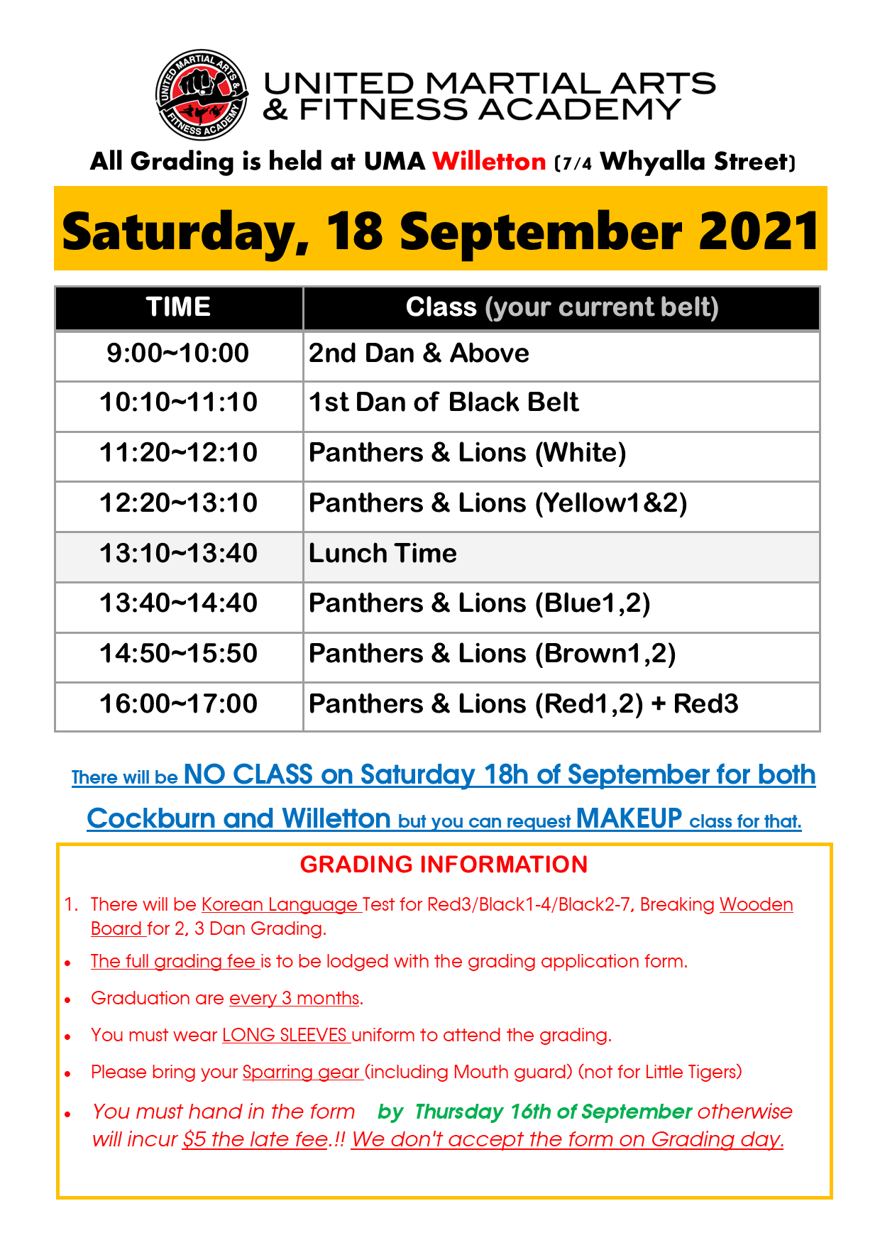 Grading Schedule September 2020 page 1