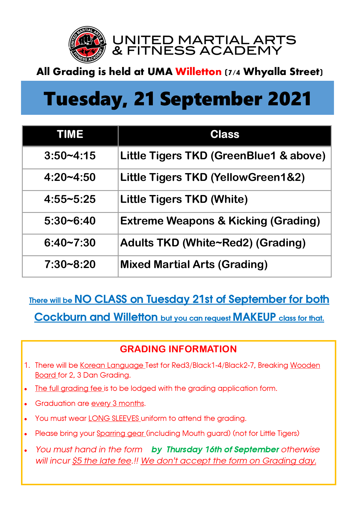 Grading Schedule September 2020 page 2